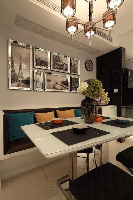 现代简约风格家居餐厅照片墙图片