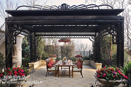 精选面积118平别墅花园欧式装饰图片欣赏