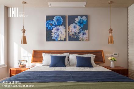 热门面积94平简约三居卧室装修设计效果图片