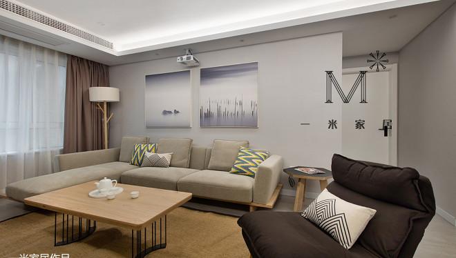 精选面积105平现代三居客厅装修图片欣赏