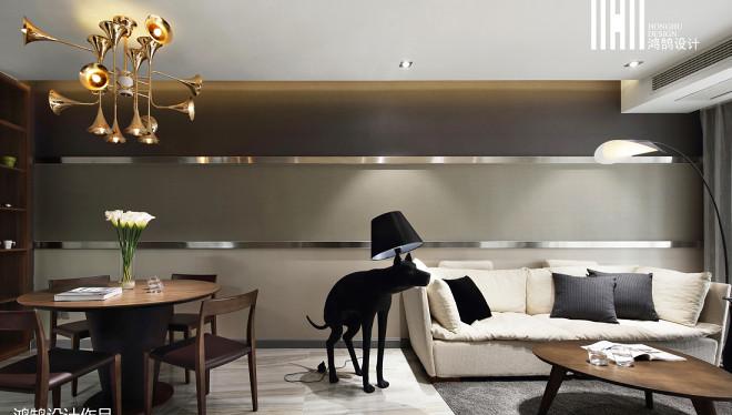面积78平现代二居客厅装修图片欣赏