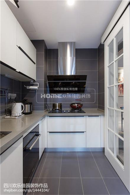 120m²现代简约厨房设计图