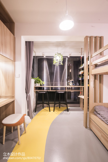 2018精选面积78平北欧二居卧室装饰图片