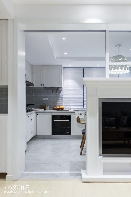 201992平现代三居厨房实拍图